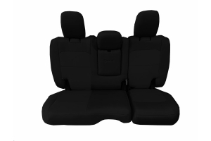 Bartact Tactical Rear Seat Cover w/Fold Down Armrest Black/Black (Part Number: )