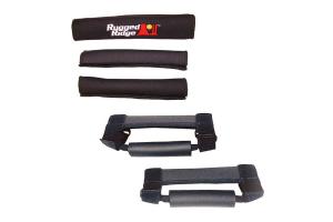 Rugged Ridge Grab Handle Kit Black  - TJ/LJ