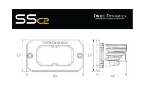 Diode Dynamics SSC2 2IN Pro Flush Mount LED Flood Pod, RBL