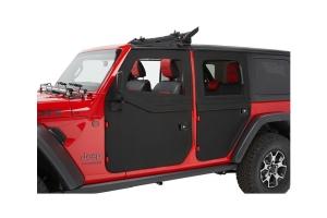 Bestop Full Fabric Rear Doors, 2-Piece - Black Twill - JT/JL 4Dr