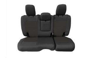 Bartact Tactical Rear Seat Cover w/Fold Down Armrest Graphite/Graphite (Part Number: )