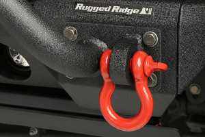 Rugged Ridge D-Ring, 3/4-Inch, 9500 Pound, Red (Part Number: )