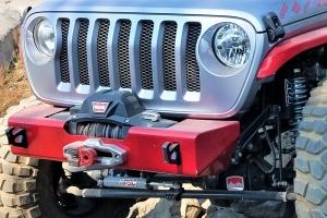 Nemesis Industries Helix Stubby Front Bumper, Non-Winch - Aluminum, Bare - JT/JL