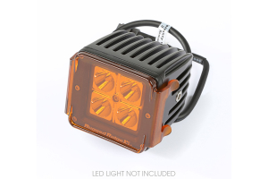 Rugged Ridge 3 Inch Square LED Light Cover, Amber (Part Number: )
