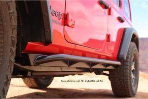 Rock Hard 4x4 Patriot Series Tube Slider Rocker Guards - Angled Up  - JL 2Dr