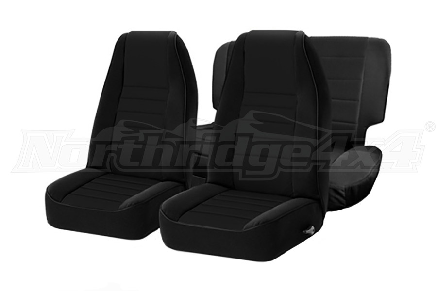 Smittybilt Neoprene Front and Rear Seat Covers Black (Part Number:471601)