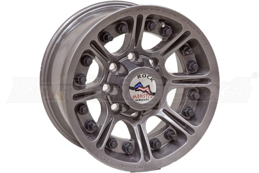 Hutchinson Rock Monster Beadlock Wheel, Argent 17x8.5 8x6.5