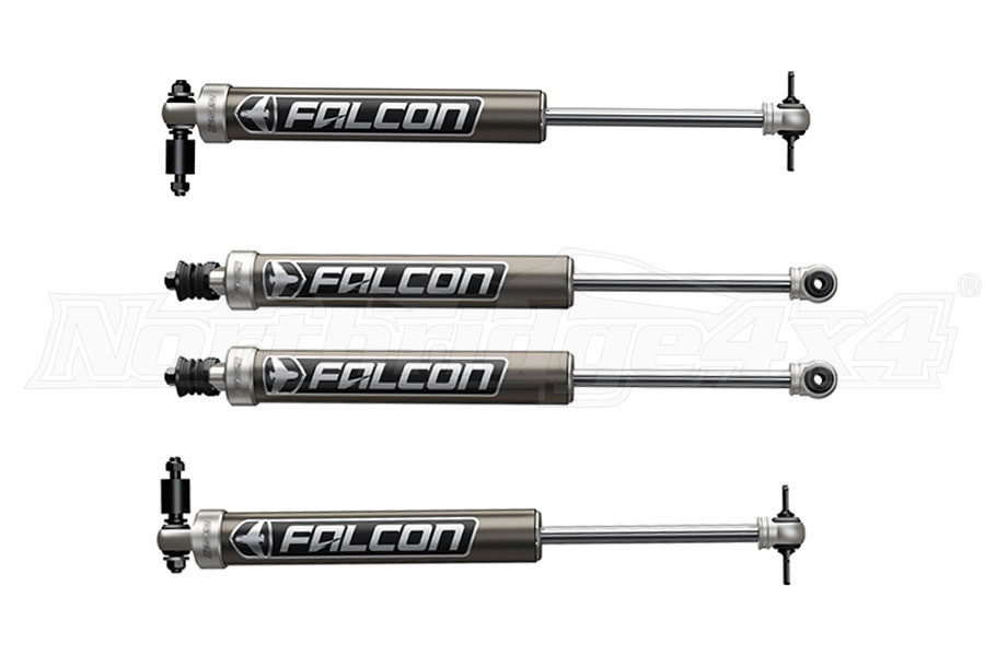 Teraflex Falcon Series 2.1 Monotube Shock Front & Rear Kit, 1.5in - 2in Lift (Part Number:03-01-21-400-002)