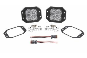 Diode Dynamics Worklight SS3 Pro Flush Mount LED Flood Lights, White - Pair
