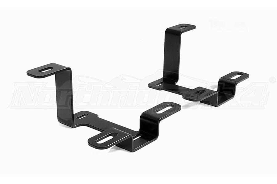Quake LED A-Pillar Dual Pod/Single 42in Light Bar Cowl Mount - JT/JL
