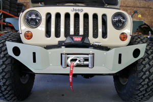 Nemesis Industries Voyager Front Bumper w/ Winch Plate Offset Drum - Texture Black Powder Coating (Part Number: )