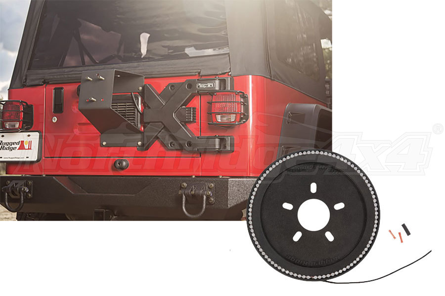 Rugged Ridge Tire Carrier and Brake Light Ring - TJ/LJ
