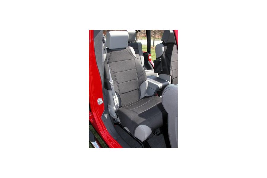 Rugged Ridge Front Seat Vests Black (Part Number:13235.30)