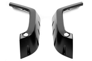 Bushwacker Factory Coverage Pocket Style Fender Flare Set Front Black - JK