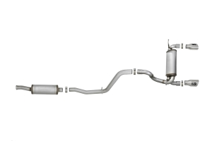AFE Power Rebel Series 2.5in Dual Cat-Back Exhaust System, Polished - JL 4Dr 3.6L