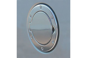 Rugged Ridge Non-Locking Polished Aluminum Gas Cap Door - TJ/LJ