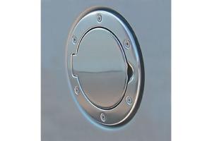 Rugged Ridge Non-Locking Polished Aluminum Gas Cap Door (Part Number: )