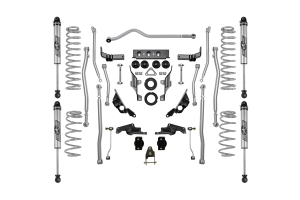 Rubicon Express 3.5/4.5in Extreme Duty 4-Link Long Arm Lift Kit with Monotube Non-Reservior Shocks - JL 4dr