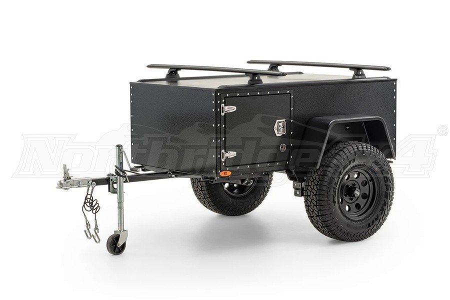 Freespirit Recreation Overlander Trailer w/Rhino Vortex 65 Kit, Black
