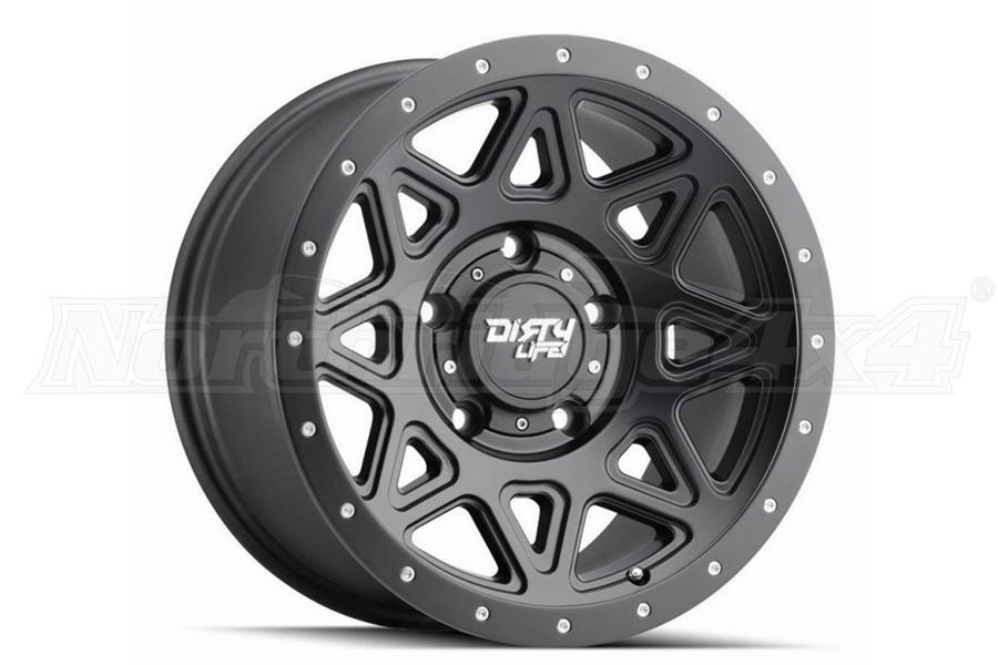 Dirty Life 9305 Theory Series Wheel, Matte Black 17X9 5x5 - JT/JL/JK