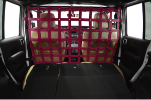 Dirty Dog 4X4 Cargo/Pet Divider Maroon - JL 4dr