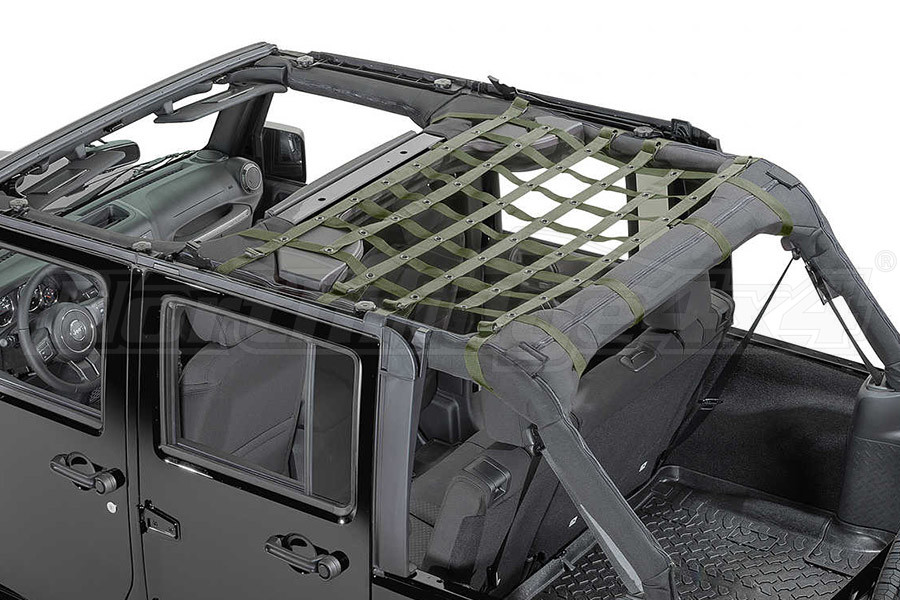 Dirty Dog 4x4 Rear Seat Netting Olive  (Part Number:J4NN07M1OD)