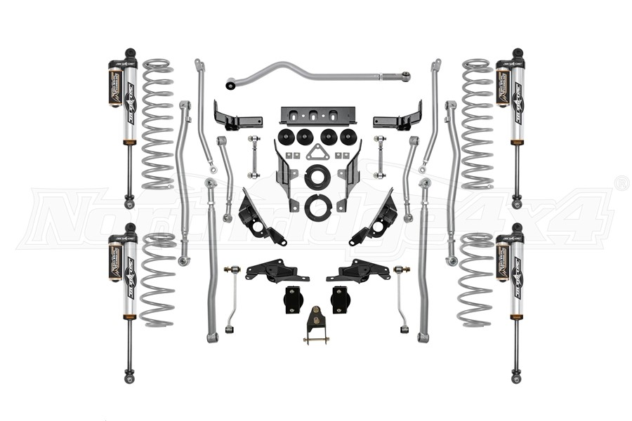 Rubicon Express 3.5/4.5in Extreme Duty 4-LINK Long Arm Lift Kit with Piggyback Reservoir Shocks - JL 4dr