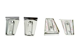 Kentrol 4-Pieces Door Hinge Overlays - Polished Silver  - JK 2Dr
