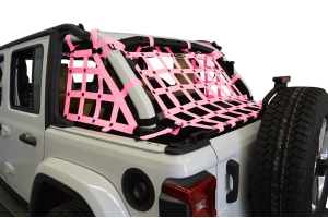Dirty Dog 4x4 3pc Cargo Side Netting Kit, Pink - JL 4Dr