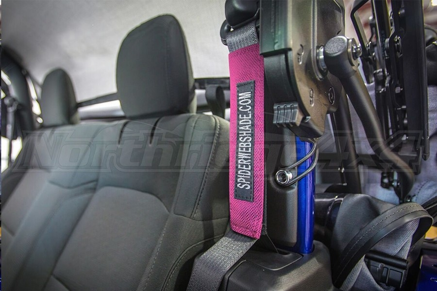 Spiderwebshade SeatBelt Silencers Pink (Part Number:SWS-SBSLNR-01-JL2D-PNK)