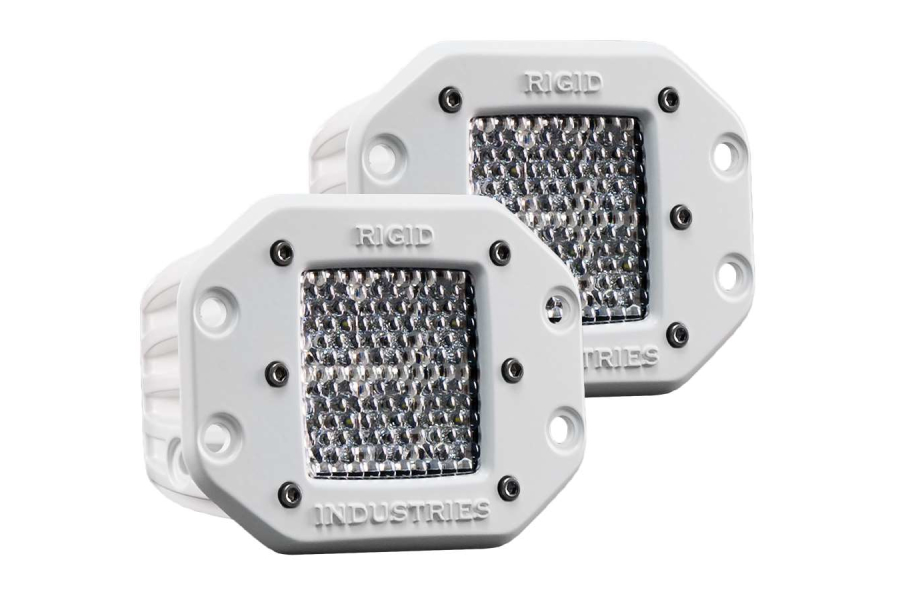 Rigid Industries M-Series Dually D2 Flush Mount Diffused Pair (Part Number:712513)