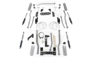 Rubicon Express Extreme Duty 4-Link Front/3-Link Rear Long Arm Lift Kit 3.5in w/Mono Tube Shocks (Part Number: )