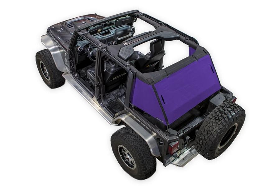 SpiderWebShade 1-Piece Cargo Shade Cover - Purple - JK 4Dr