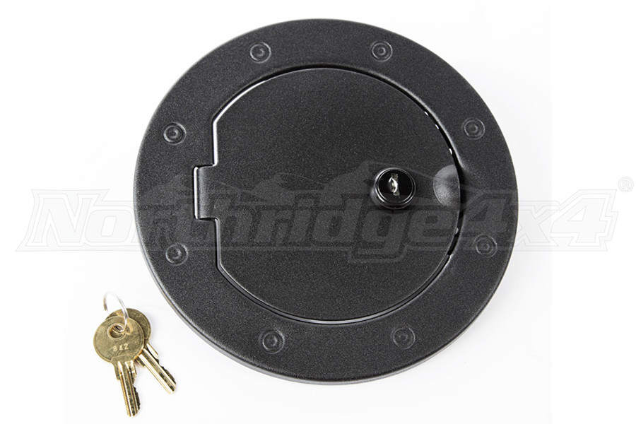 Rugged Ridge Locking Gas Cap Door, Textured Black (Part Number:11229.06)