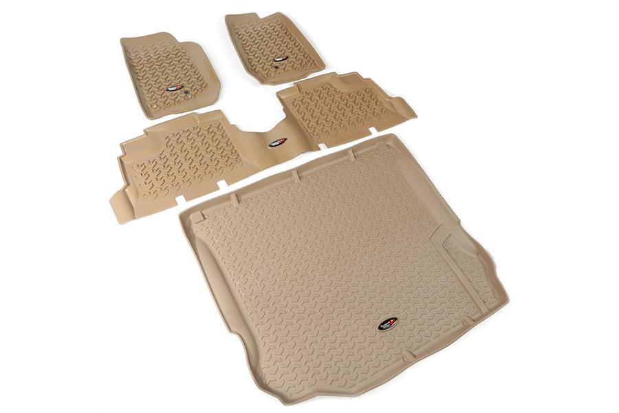 Rugged Ridge Floor Liner Kit, Tan (Part Number:13988.04)