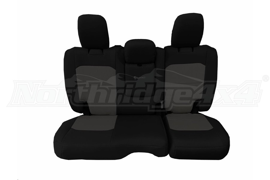 Bartact Tactical Rear Seat Cover w/Fold Down Armrest Black/Graphite (Part Number:JLSC2018RFBG)