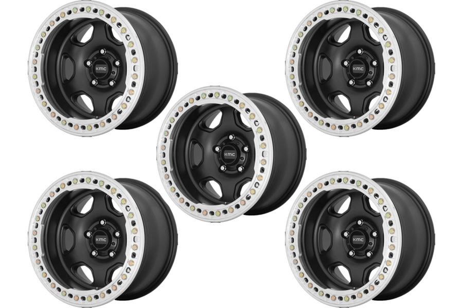 KMC HEX Series Beadlock Wheel Package - JT/JL/JK
