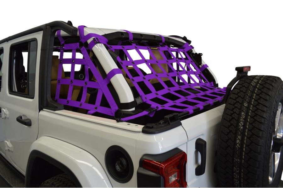 Dirty Dog 4x4 3pc Cargo Side Netting Kit, Purple - JL 4Dr