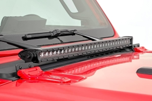 Rough Country 30-inch LED Hood Kit, Chrome Series - JL