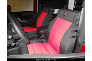 Bartact  Seat Cover Rear Split Bench 4 Door Graphite/Graphite (Part Number: )