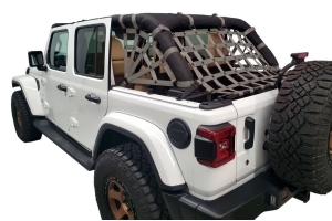 Dirty Dog 4x4 Netting Kit Spider Sides 3pc Grey - JL 4dr