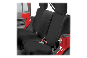 Rugged Ridge Rear Seat Cover Black/Black - JK 4dr