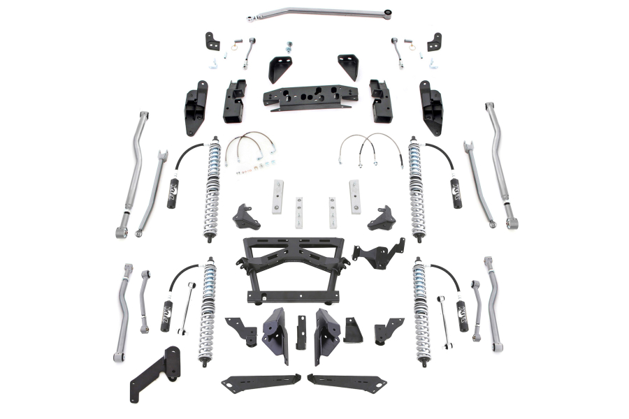 Rubicon Express ExtremeDuty 4Link Long Arm Coilover Kit no Airbumps (Part Number:JK444NB)