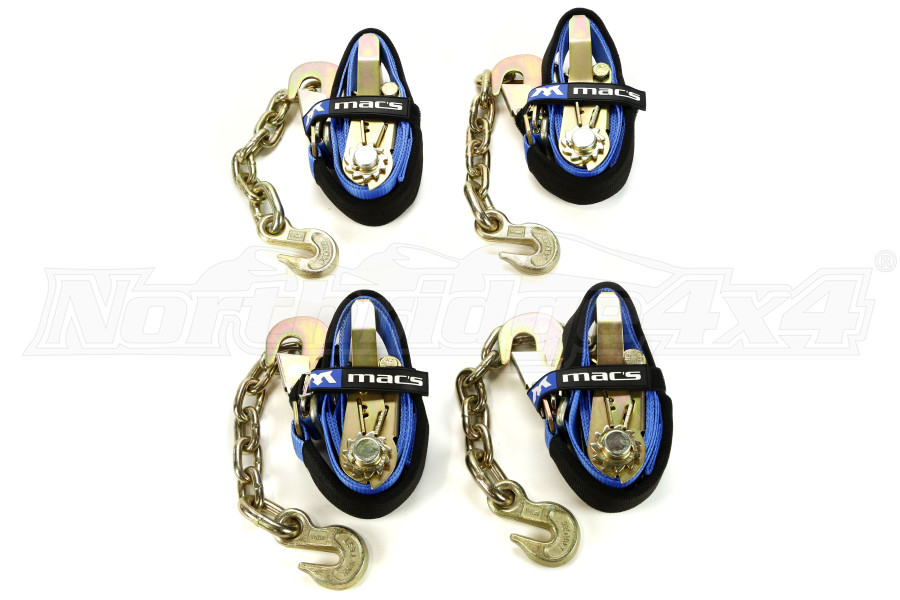 Mac's Super Pack with Chain Extensions Blue Ratchet Straps (Part Number:512128)