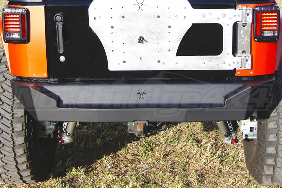 Nemesis Industries Helix Rear Bumper - Semi Gloss Black Powder Coat, Aluminum (Part Number:121531)