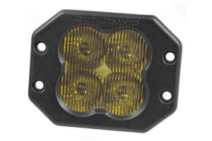 Diode Dynamics SS3 Pro Flush Mount LED Pod - Yellow Fog