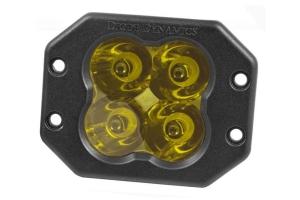 Diode Dynamics SS3 Sport Flush Mount LED Pod - Yellow Spot