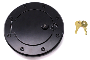 Rugged Ridge Locking Gas Cap Door Black Aluminum ( Part Number: 11425.06)