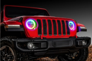 Oracle LED ColorShift Headlight Surface-Mount Halo Kit - JT/JL