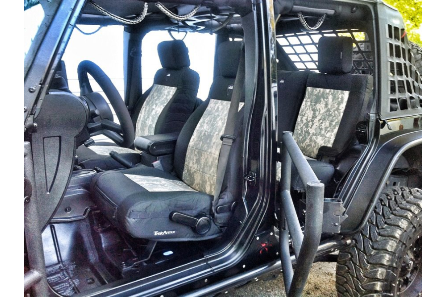 Bartact  Seat Cover Rear Split Bench 4 Door Coyote/Coyote (Part Number:JKSC2007R4CC)